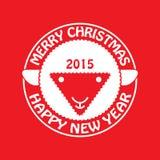 Овцы invitation new year также вектор иллюстрации притяжки corel Стоковая Фотография RF