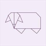 Овцы Origami Стоковая Фотография RF