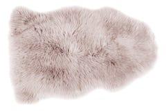 Овчина изолированная на белизне стоковая фотография rf