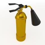 Огнетушитель золота, 3D Иллюстрация штока