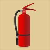Огнетушитель изолированный на предпосылке цвета также вектор иллюстрации притяжки corel Стоковое Изображение RF