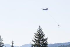 Огни бой вертолета чинука Стоковое Изображение