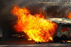 Огонь автомобиля стоковая фотография rf