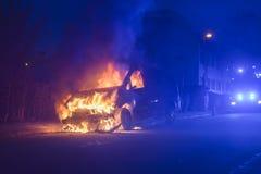 Огонь автомобиля стоковые изображения rf