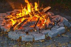 Огонь лагеря Стоковое фото RF