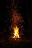 Огонь лагеря Стоковые Изображения RF