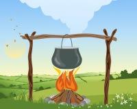 Огонь лагеря Стоковая Фотография RF