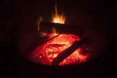 Огонь лагеря Стоковая Фотография