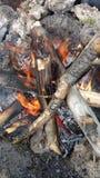 Огонь лагеря Стоковые Фотографии RF