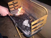 Огонь барбекю Стоковое Изображение