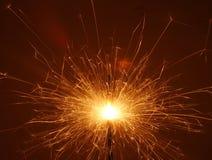 Огонь Бенгалии. Бенгальский огонь рождества Стоковая Фотография