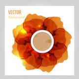 Огонь вектора Флористическая предпосылка с дымом Стоковая Фотография