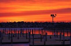 Огонь восхода солнца Стоковые Фото