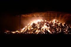 Огонь в амбаре Стоковое Фото