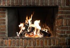 Огонь в камине стоковая фотография rf