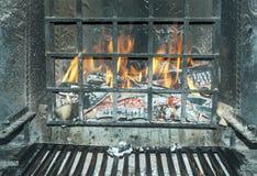 Огонь в печной трубе стоковое фото rf