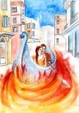 Огонь влюбленности Стоковые Изображения