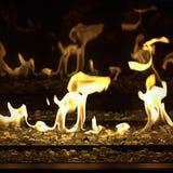 Огонь газа с отражением Стоковые Изображения