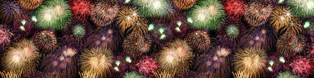 Огонь года лет знамени предпосылки фейерверков Новогодней ночи большой бесплатная иллюстрация