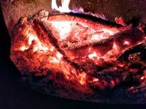 Огонь деревни стоковое изображение rf