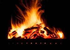 Огонь для барбекю Стоковое фото RF