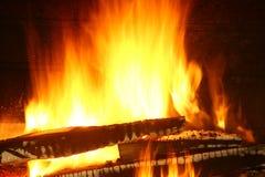 Огонь древесины стоковое фото rf