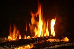 Огонь древесины стоковые изображения rf