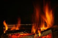 Огонь древесины Стоковые Изображения