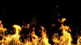 Огонь закрепленный петлей с маской альфы, видеоматериал
