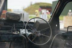 Огонь и взрыв автомобиля Стоковое Изображение RF