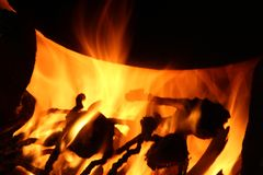 Огонь и пламена для предпосылки стоковая фотография rf