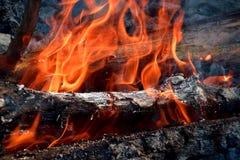 Огонь и швырок стоковое фото