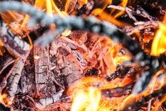 Огонь как концепция силы Стоковое Изображение