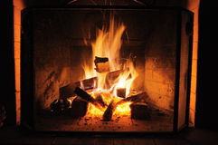 Огонь камина Стоковые Фотографии RF