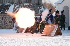 Огонь канона Стоковое Фото