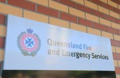 Огонь Квинсленда и чрезвычайные обслуживани Австралия Стоковые Изображения RF