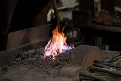 Огонь кузнецов Стоковая Фотография