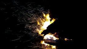 Огонь лагеря Стоковые Изображения