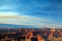 Огонь национального парка гранд-каньона Стоковая Фотография