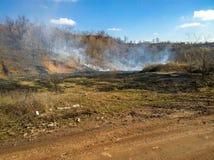Огонь начала в жаркой погоде Стоковая Фотография RF