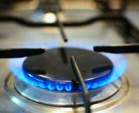 Огонь на газовой плите Стоковые Изображения