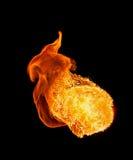Огонь на черной предпосылке Стоковое фото RF
