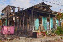Огонь дома в Новом Орлеане Стоковые Фотографии RF