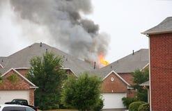 Огонь дома Стоковая Фотография
