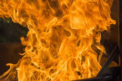 Огонь от гриля Стоковые Фотографии RF