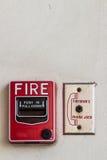 Огонь переключателя кнопки Стоковая Фотография