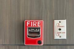Огонь переключателя кнопки Стоковая Фотография RF