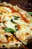 Огонь пиццы деревянный стоковые изображения rf