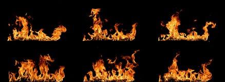 Огонь пылает собрание Стоковые Изображения RF