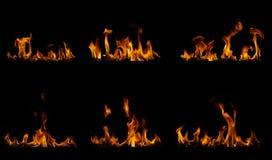 Огонь пылает собрание Стоковая Фотография
